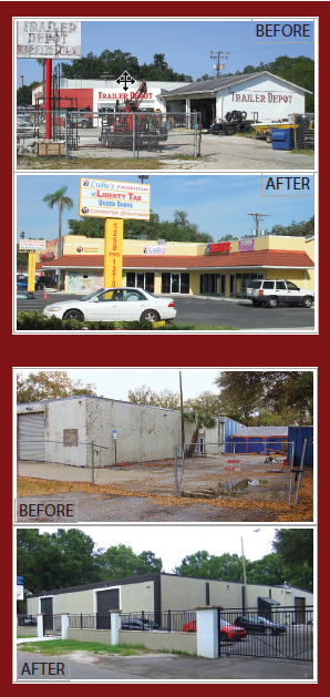 Facade Improvement Before and After Examples