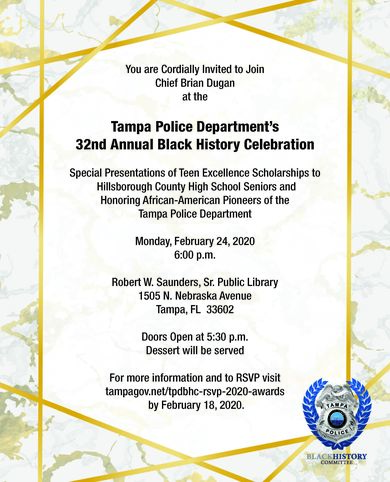 TPD 32nd Annual Black History Celebration