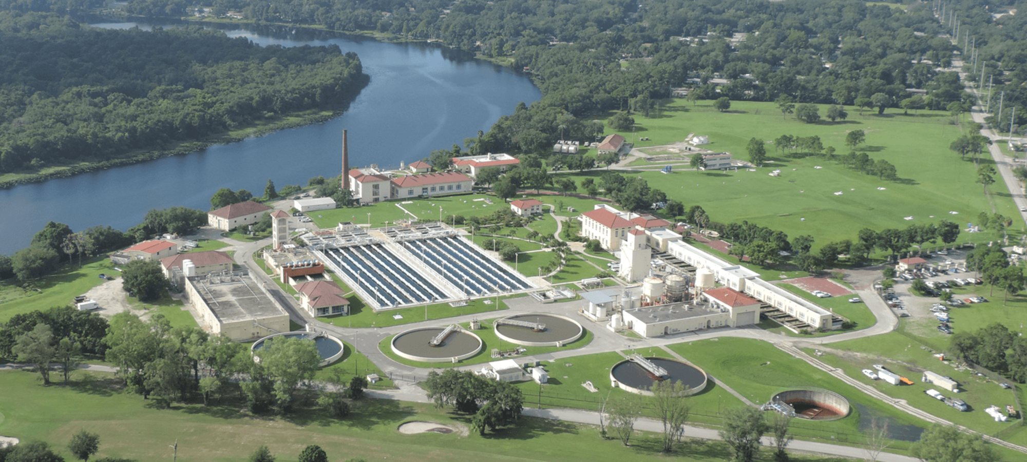 Aerial photo of David L. Tippin Water Treatment Plant