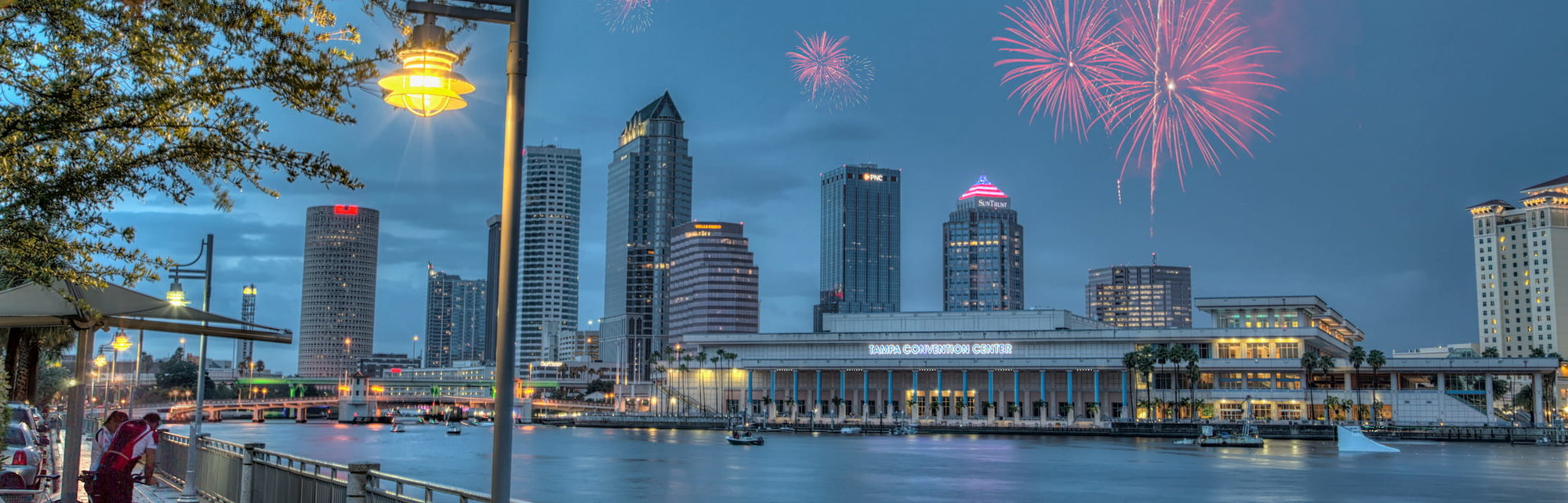 Tampa Fireworks Composite