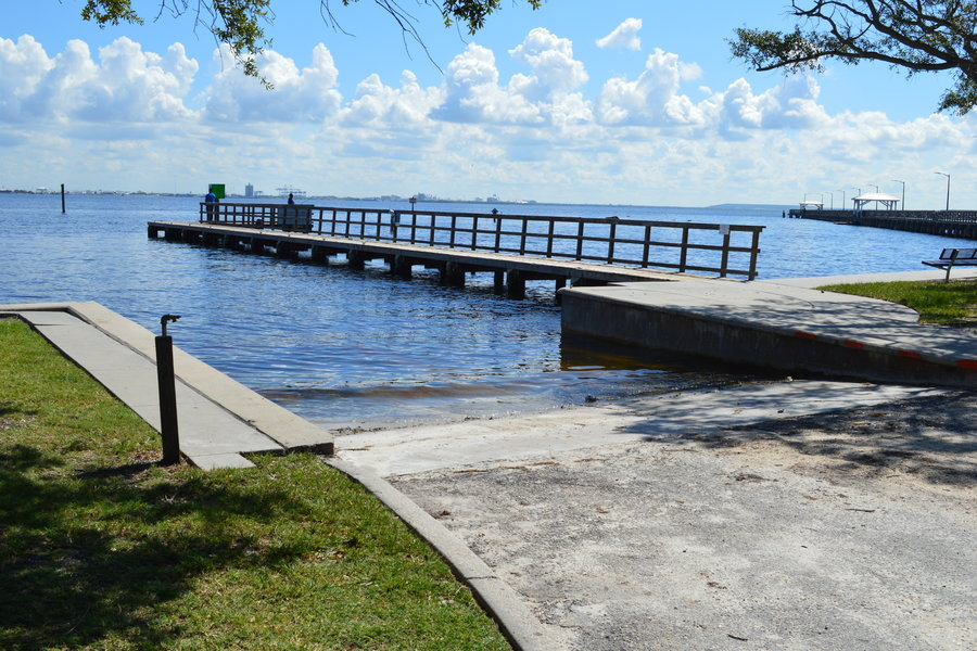 View of boat ramp