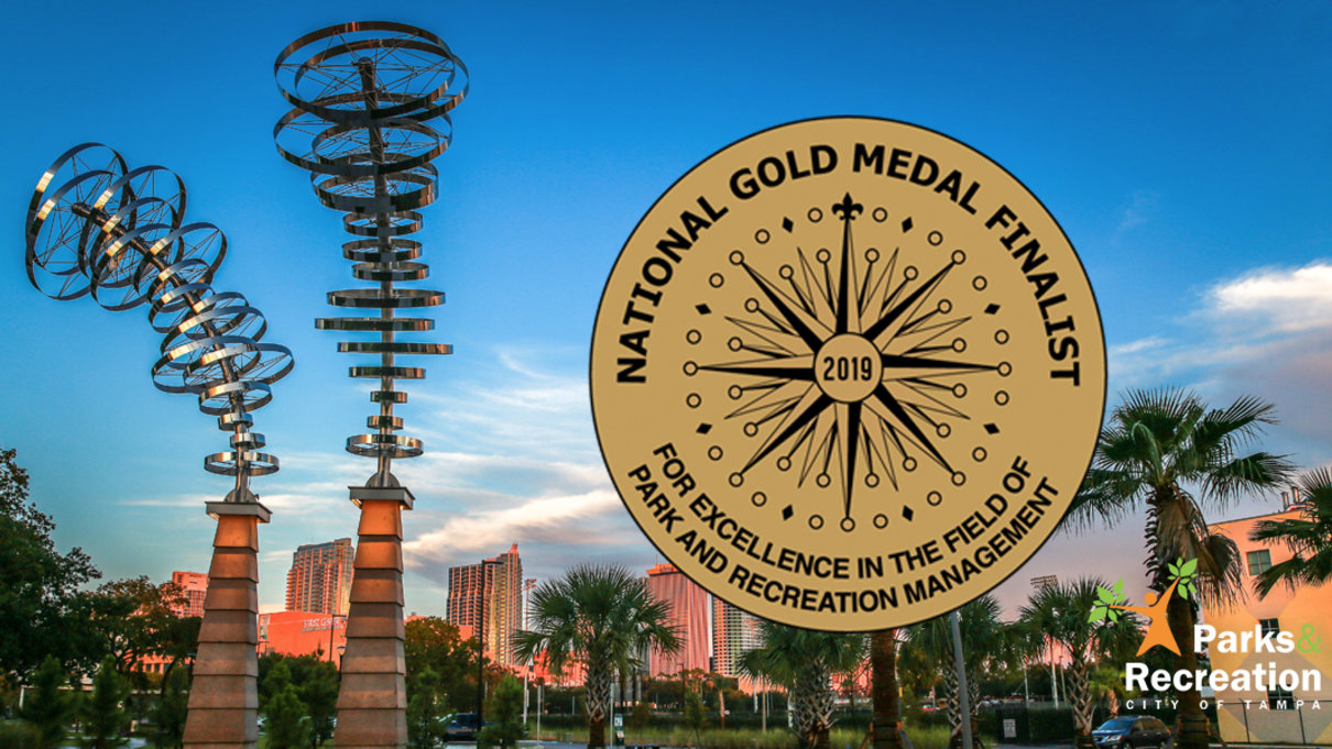 Photo of Julian B Lane Riverfront Park with 2019 Gold Medal Finalist logo