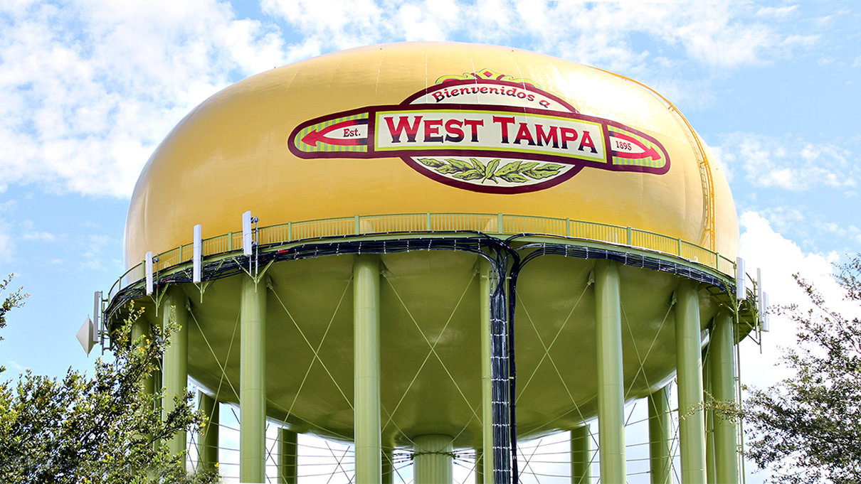 West Tampa Water Tank by the Goetzinger Brothers