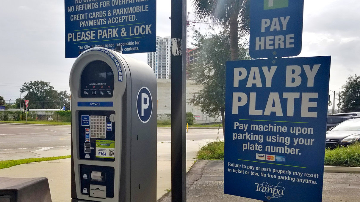 Selmon Expressway 4 Parking Lot pay station