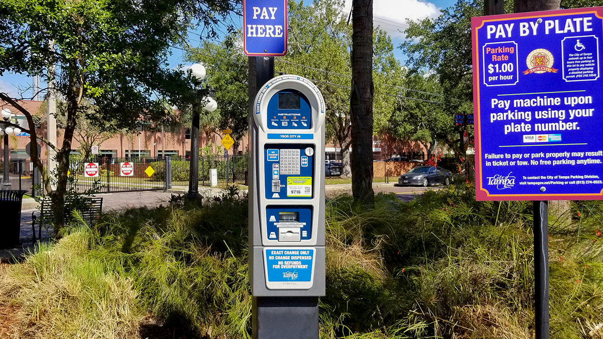 Centro Ybor #6 Parking Lot Pay Station